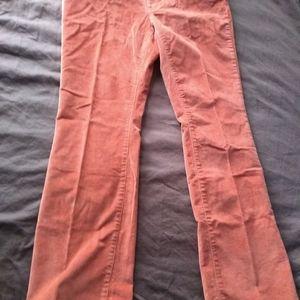 Ladies corduroy pants.